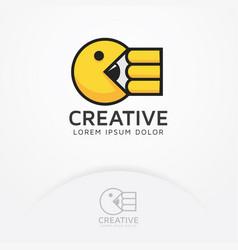eat creativity vector image