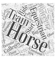Equestrian colleges Word Cloud Concept vector