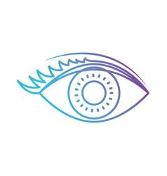 eye with eyelashes in color gradient silhouette vector image