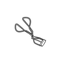 eyelash curler hand drawn sketch icon vector image