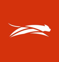 fast leopard logo vector image