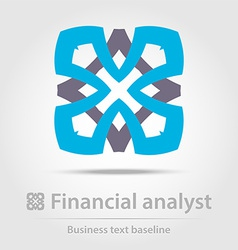 Financial analyst business icon vector image