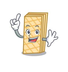 finger waffle mascot cartoon style vector image