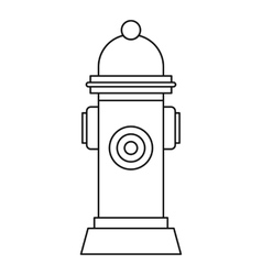 Fire hydrant icon outline style vector
