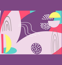 Fun hand drawn colorful shapes doodle objects and vector