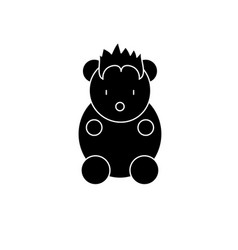 funny little animal black icon sign on vector image