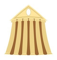 Greek temple of cartoon style on a white vector image