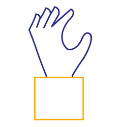 hand human catching icon vector image