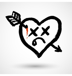 Heart killed icon vector