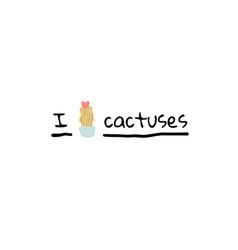I love cactuses with cactus in bloom scandinavian vector
