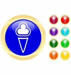 ice-cream icons vector image