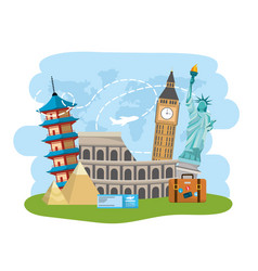 International place travel destination vector