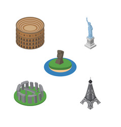 Isometric attraction set of paris coliseum chile vector