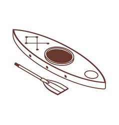 Isometric kayak boat line icon vector
