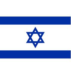 Israeli flag flat layout vector