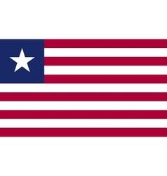 Liberia flag image vector