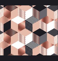 luxury geometric shapes mosaic vector image