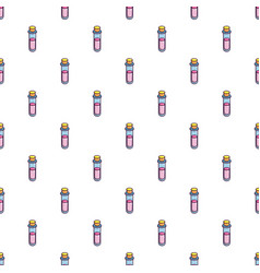 Magic glass tube love potion pattern seamless vector