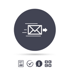 Mail delivery icon envelope symbol message vector