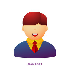 manager avatar flat gradient vector image