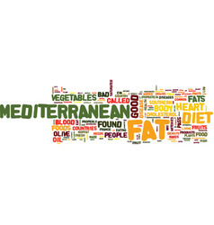 Mediterranean diet what is it text background vector