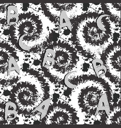 Modern black and white spots seamless pattern vector