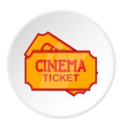 Movie ticket icon cartoon style vector image
