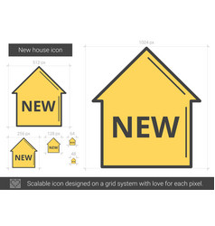 New house line icon vector