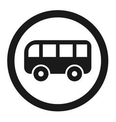 no bus prohibition sign line icon vector image