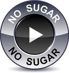 No sugar round button vector