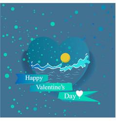 ocean valentines day vector image