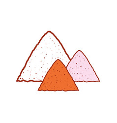 sand pile icon vector image