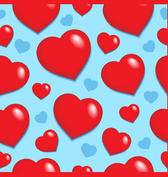 seamless background with hearts 1 vector image