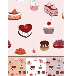 Seamless Food Pattern Background Set vector