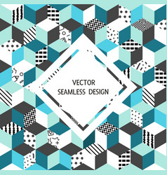 seamless pattern cubes vector image vector image