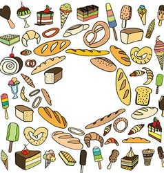 Set of ice-cream vector image