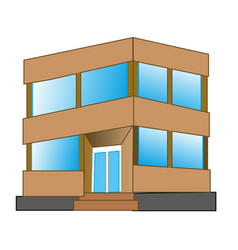 Small gray building vector