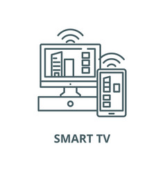 smart tv line icon linear concept outline vector image