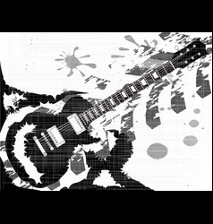 Splatter guitar vector