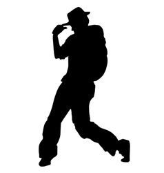 Street dancer in a hat vector