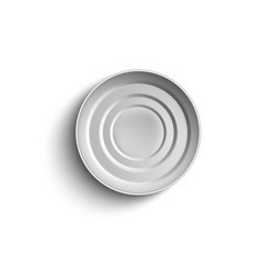 tin can or container top view realistic vector image