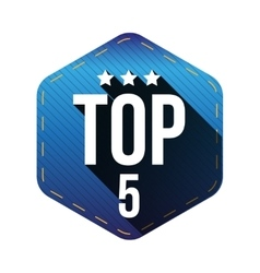 Top 5 - Five hexagon patch vector image