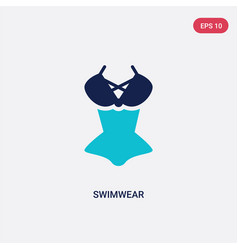 Two color swimwear icon from fashion concept vector