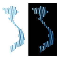 Vietnam map hex tile scheme vector