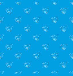 wasp pattern seamless blue vector image