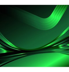 Wave abstract background on the dark green vector