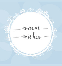 white christmas snowflakes frame with calligraphy vector image