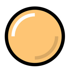 yellow blank button with glare and shadow vector image