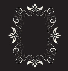Abstract romantic floral frame vector image vector image