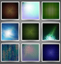 Big set of color technical backgrounds vector image vector image
